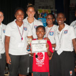 Award with girls coaches